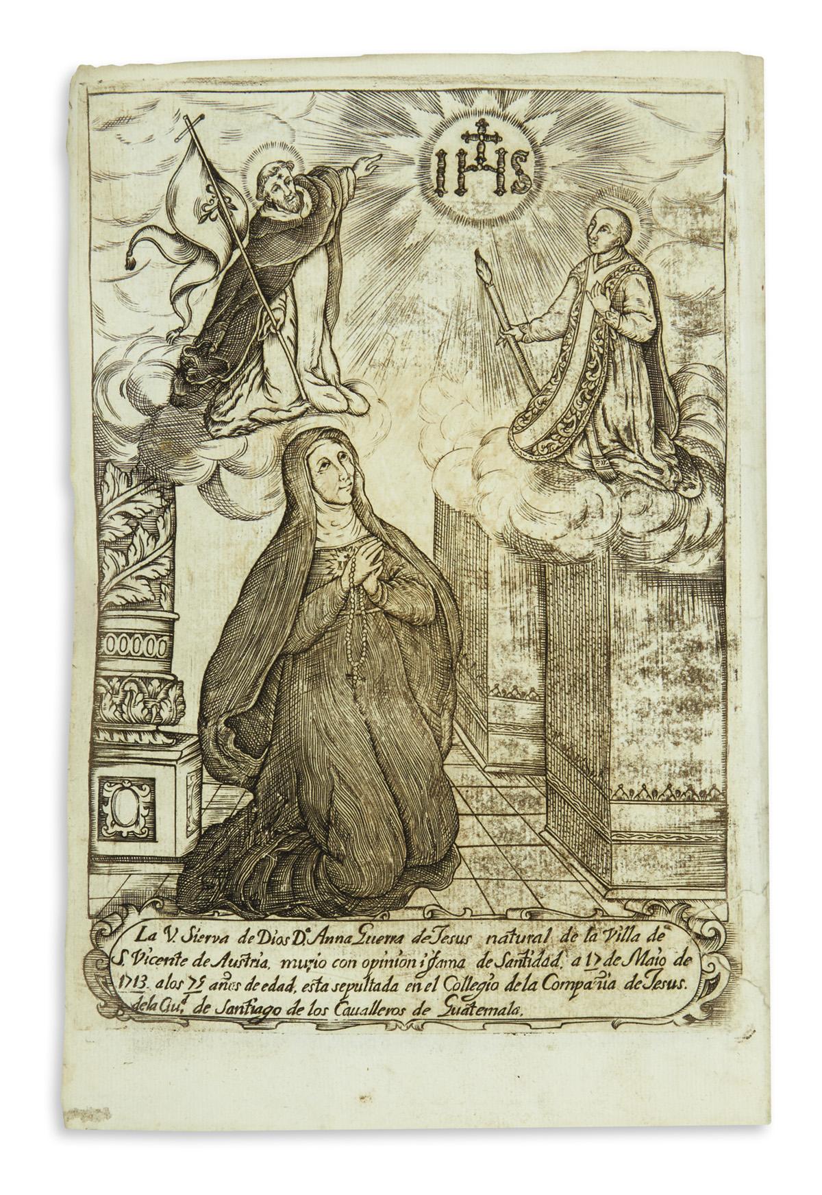 (GUATEMALA.) Siria, Antonio de. Vida admirable y prodigiosas virtudes de la v. sierva de Dios D. Anna Guerra de Jesus.