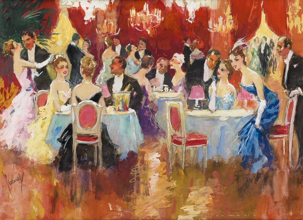 EDWARD CUCUEL. Champagne and dancing at Casino de Monte-Carlo.