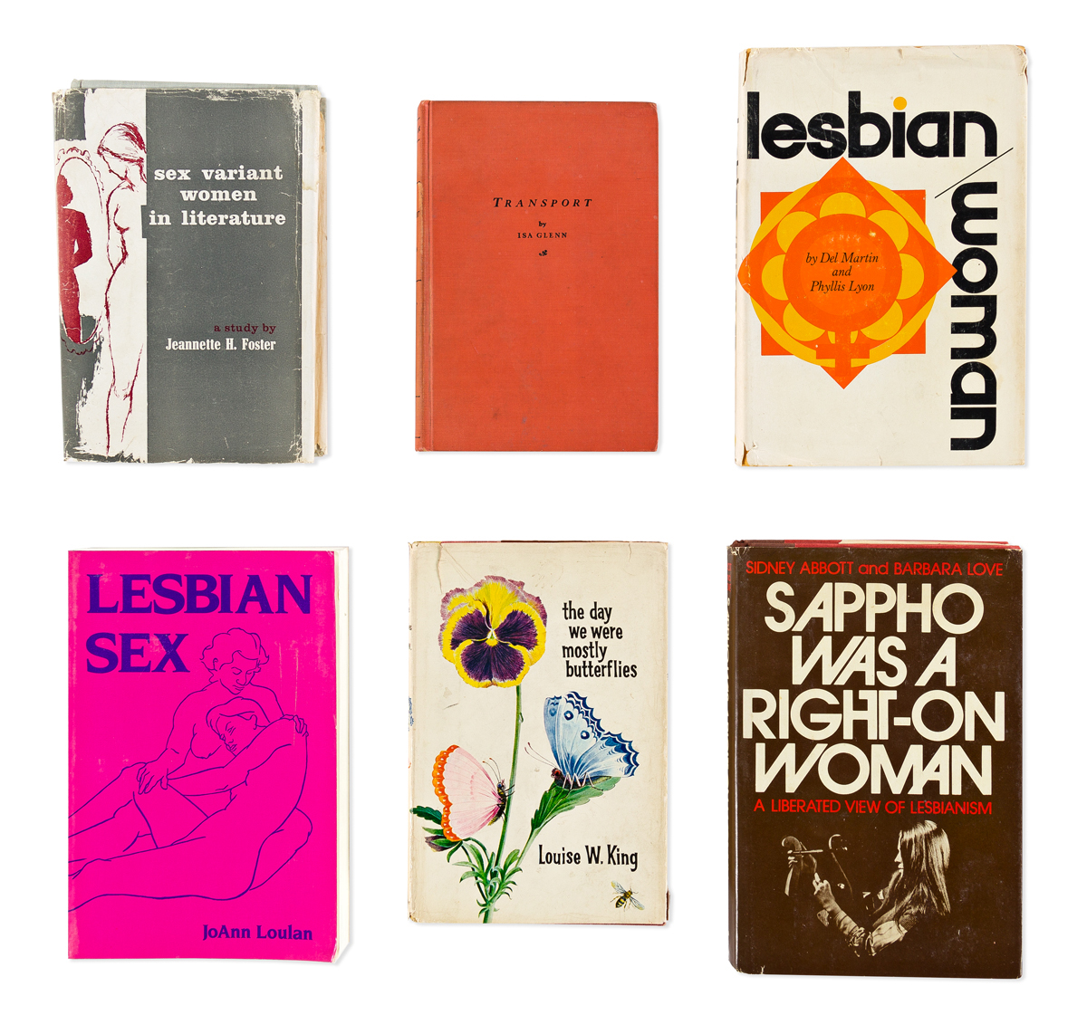 Lesbian Studies & Literature First Editions and Signed Copi Eleven Titles, 1929-1984.