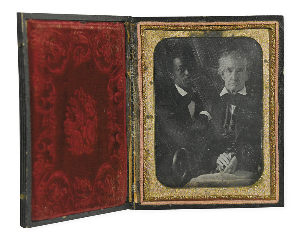(CASED IMAGES.) Old Master with favorite man servant