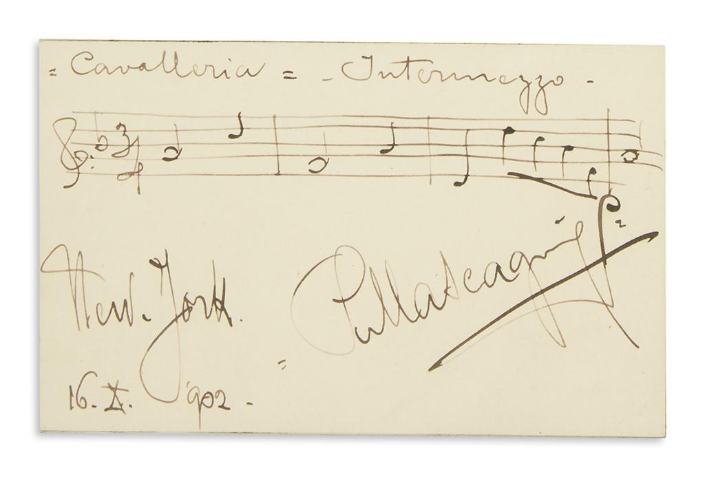 MASCAGNI-PIETRO-Two-items-each-Signed-PMascagni-Autograph-Mu