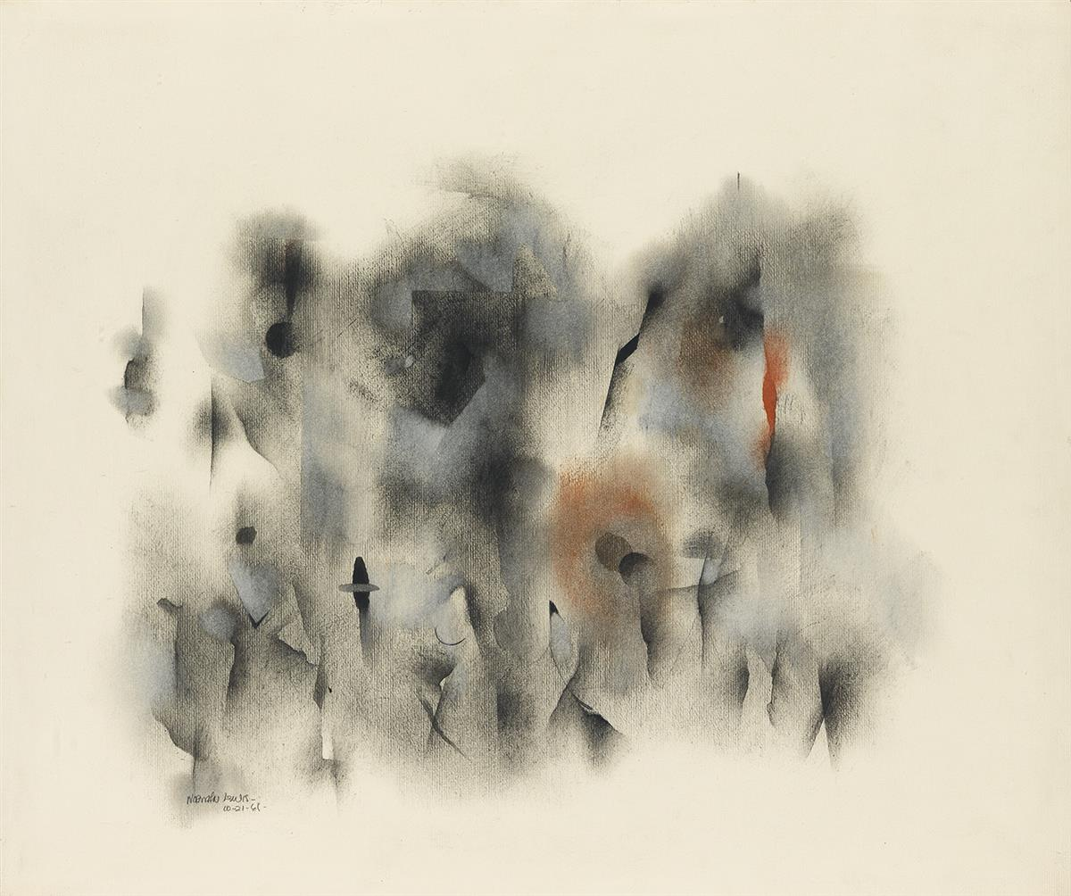 NORMAN-LEWIS-(1909---1979)-Untitled-(Figure-Composition)