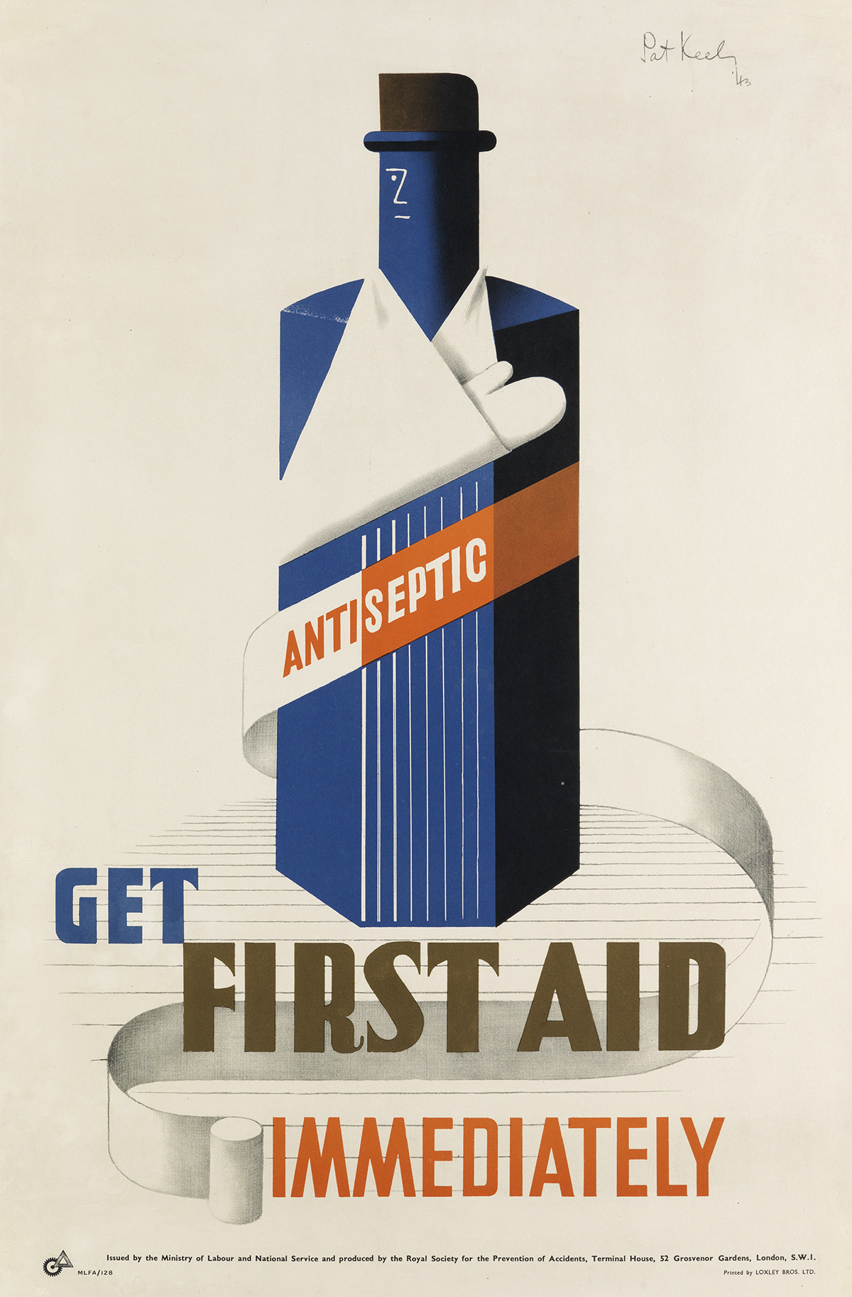 PATRICK-COKAYNE-KEELY-(1901-1970)-GET-FIRST-AID-IMMEDIATELY-