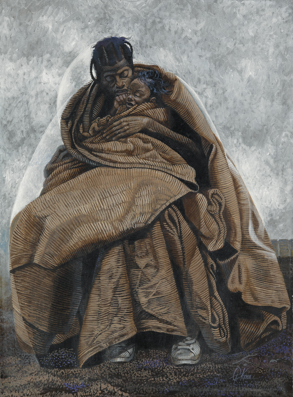 COLUMBUS KNOX (1923 - 1999) Street Mother.