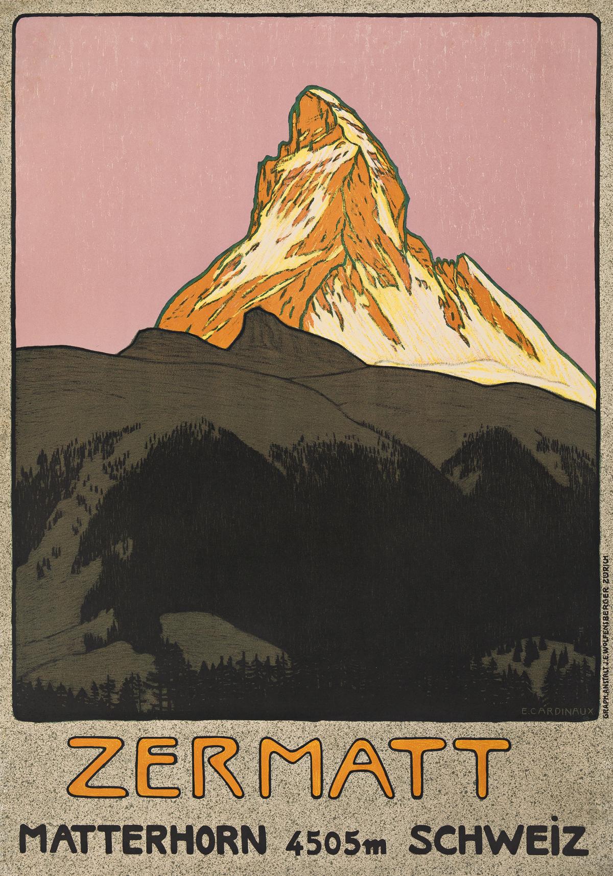 Emil Cardinaux (1877-1936).  ZERMATT / MATTERHORN SCHWEIZ. 1908.