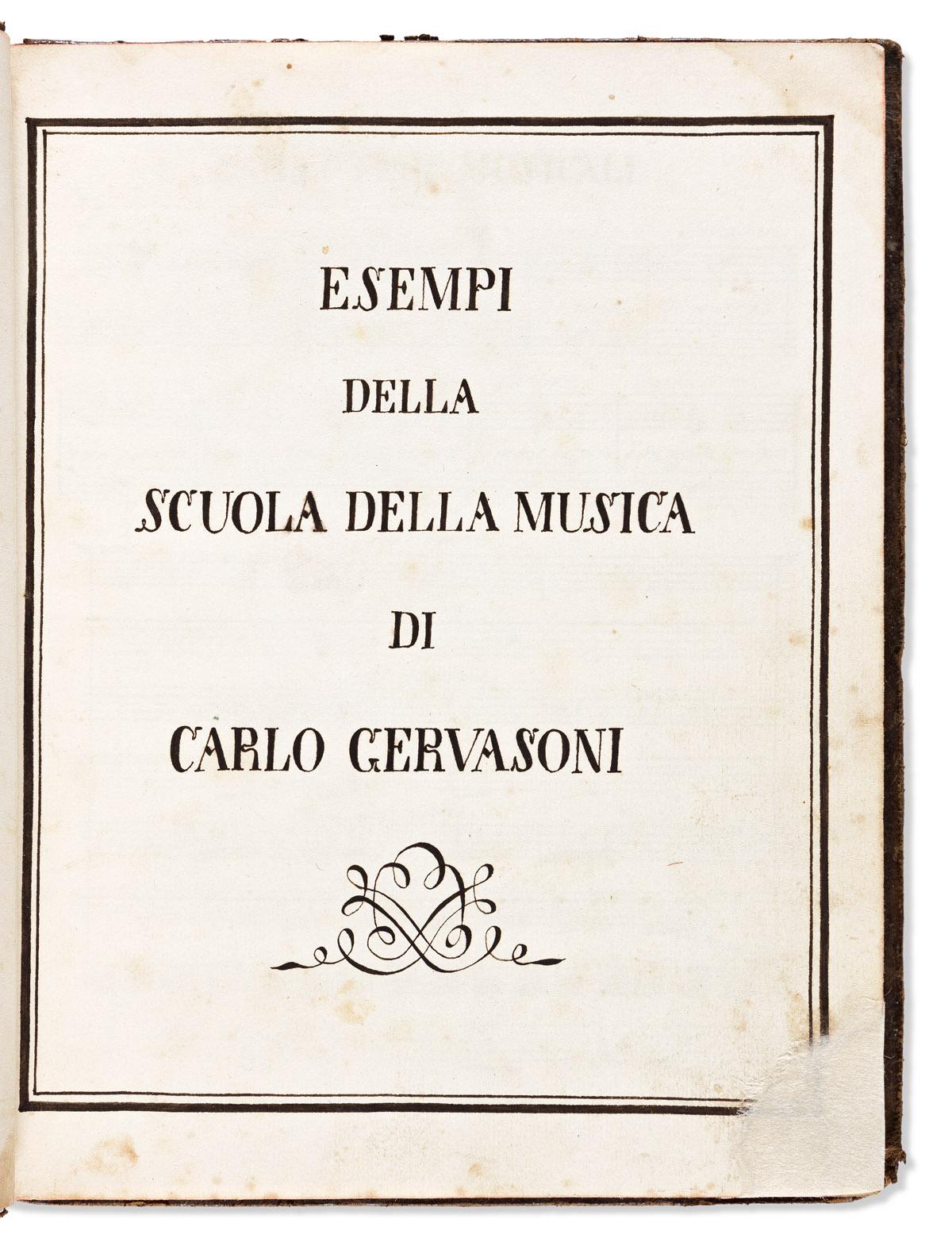 Gervasoni, Carlo (1762-1819) Esempi della Scuola della Musica.