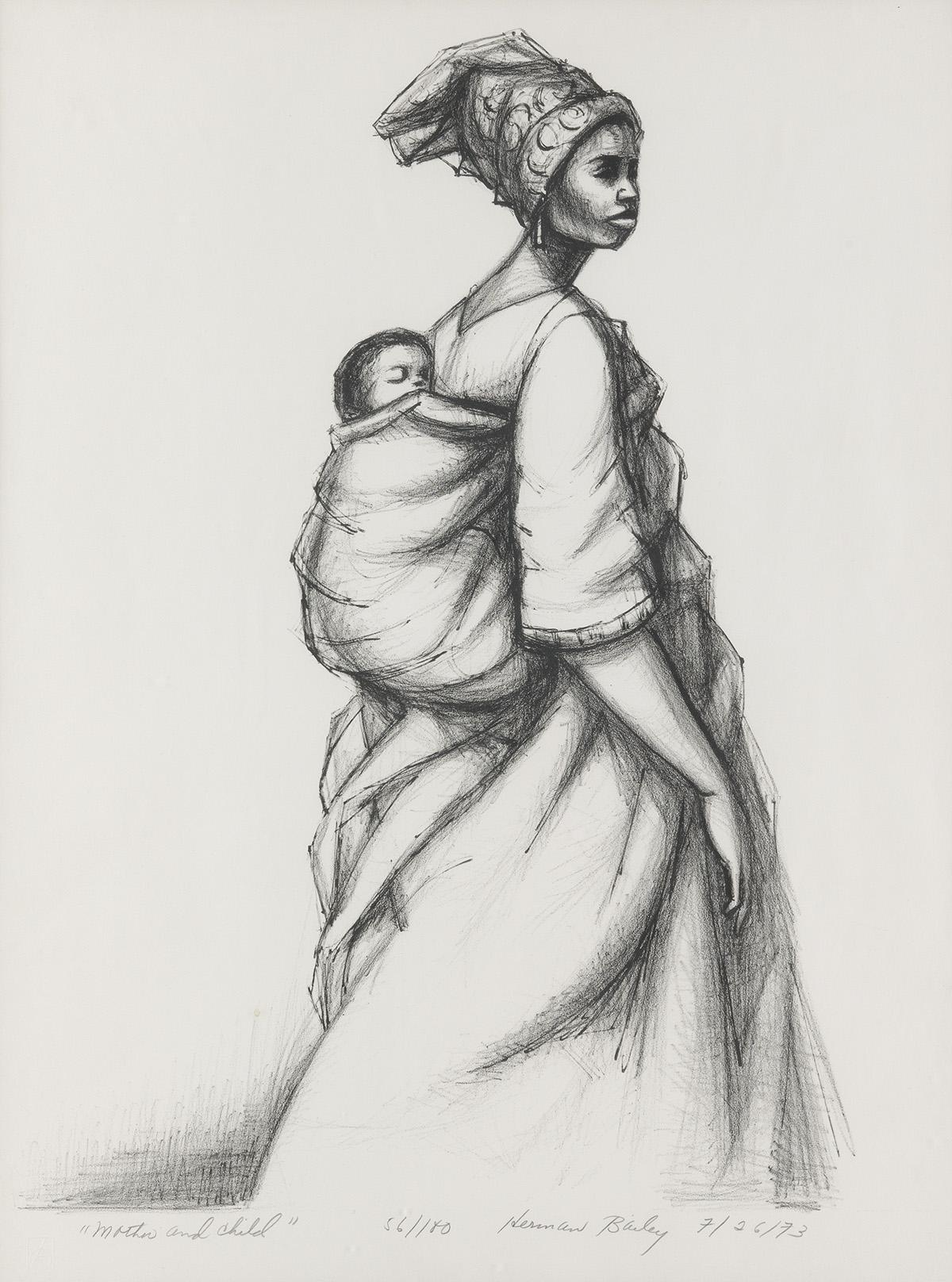 HERMAN-KOFI--BAILEY-(1931---1981)-Mother-and-Child
