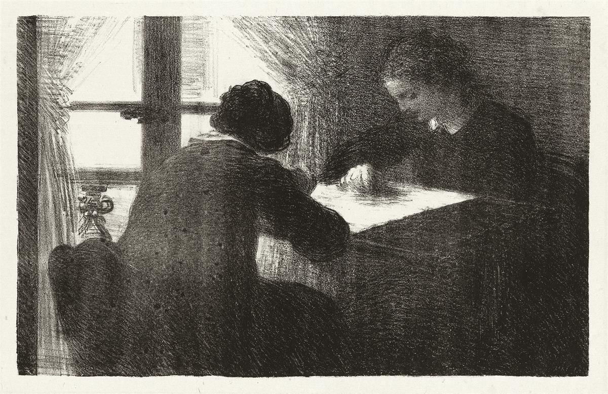 HENRI FANTIN-LATOUR Les Brodeuses (2ème planche).
