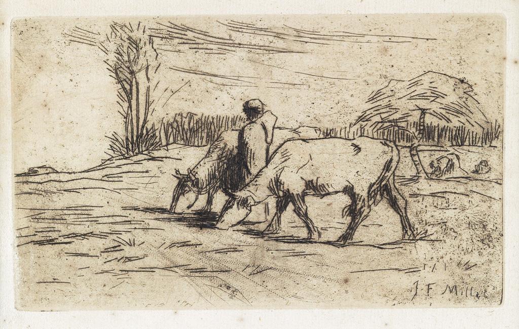 JEAN-FRANÇOIS-MILLET-Deux-Vaches