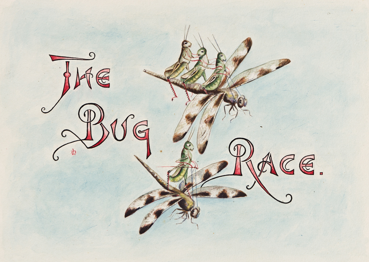 LILLIAN C. DAVIDS (active circa late 19th-early 20th centuries) Doings of the Grasshoppers. The Bug Race. [CHILDRENS / INSECTS]