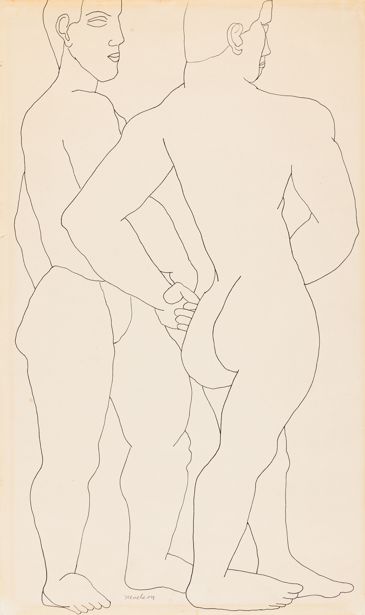 LOUISE NEVELSON Two Male Figures.