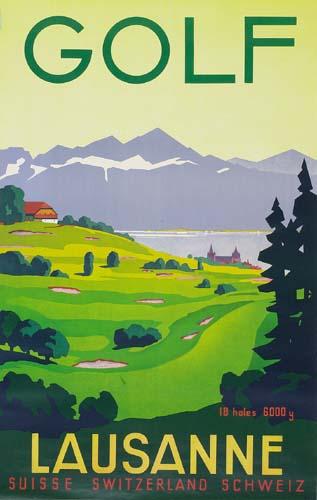 GOLF-1936-39x25-inches-Simplon-Lausanne