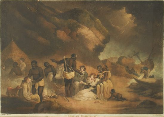 (SLAVERY AND ABOLITION.) MORLAND, GEORGE. African Hospitality.