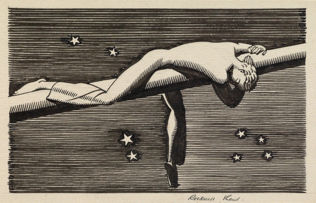 ROCKWELL KENT. Frontispiece from the Lakeside Press Moby Dick.