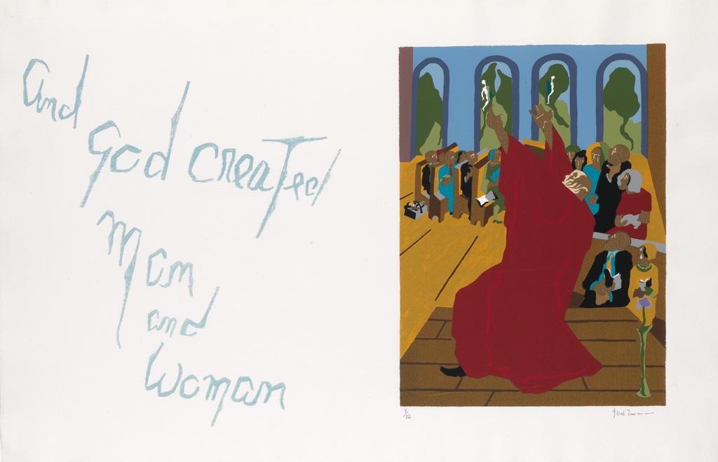 JACOB-LAWRENCE-(1917---2000)-And-God-created-man-and-woman