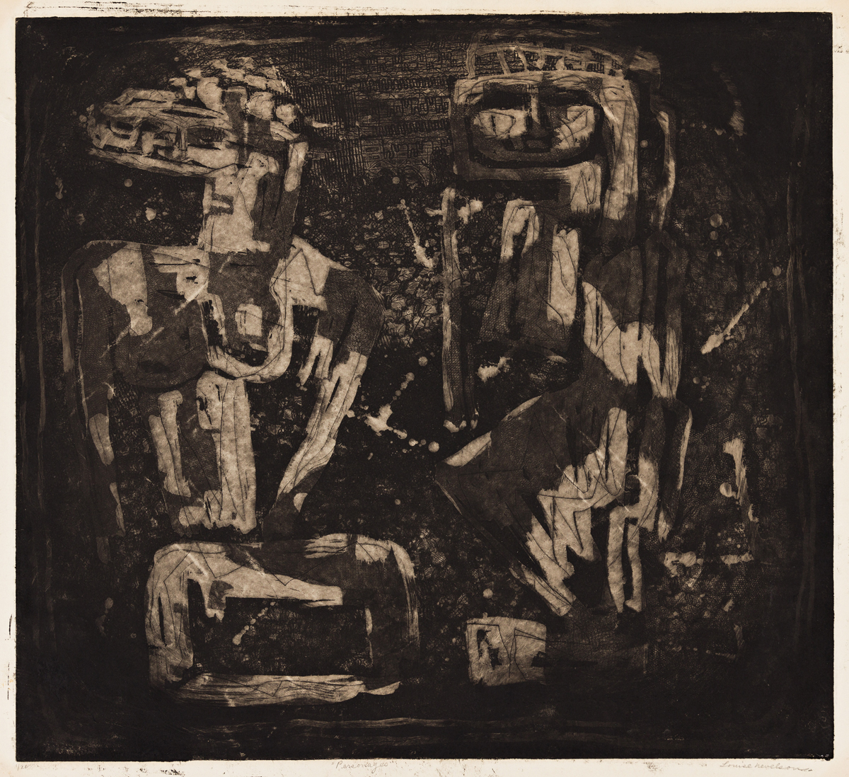 LOUISE NEVELSON One Ancient Figures.