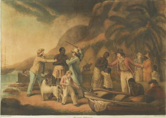 (SLAVERY AND ABOLITION.) MORLAND, GEORGE. Slave Trade.