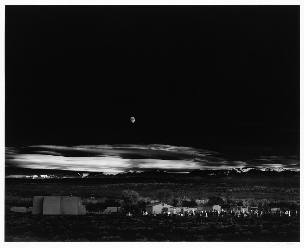 ANSEL ADAMS (1902-1984) Moonrise, Hernandez, New Mexico.