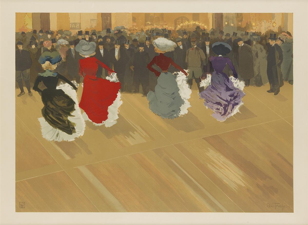LOUIS-ABEL-TRUCHET-(1857-1918)-LA-QUADRILLE-1900-23x31-inche