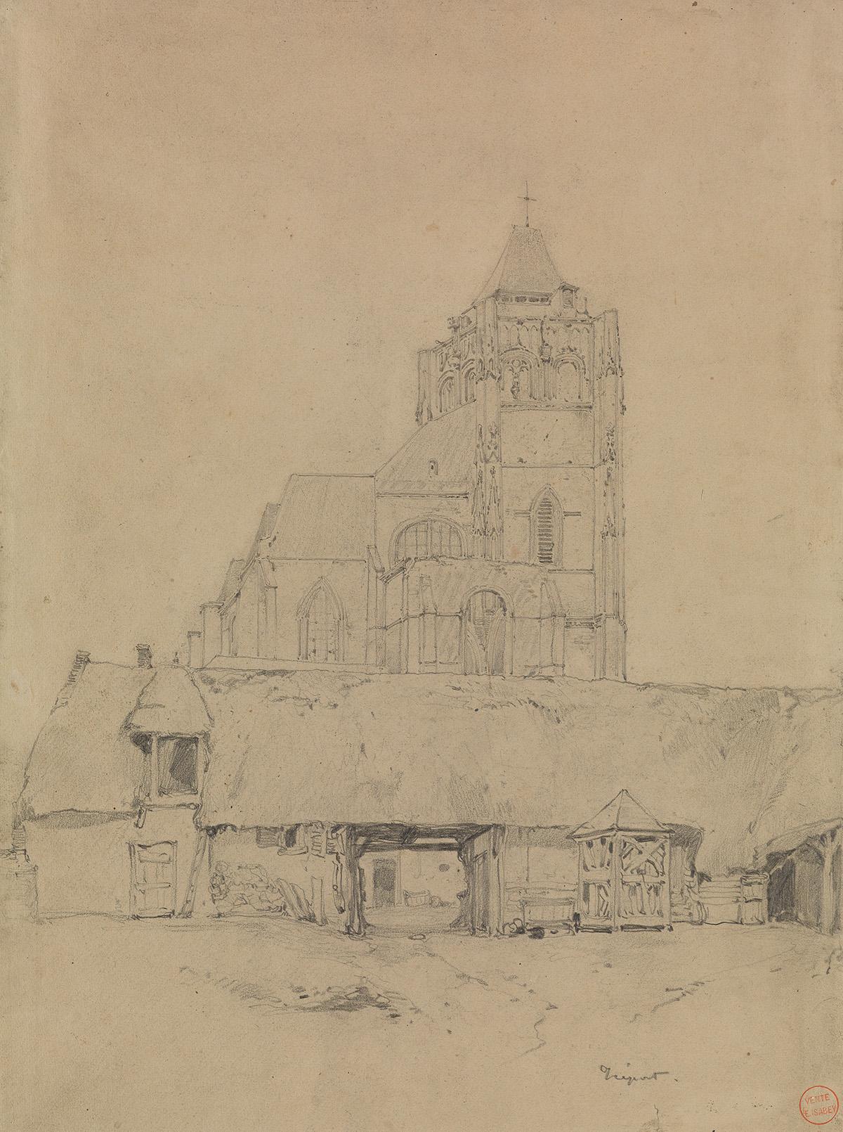 EUGÈNE-ISABEY-(Paris-1803-1886-Montévrain)-A-Study-of-a-Chur