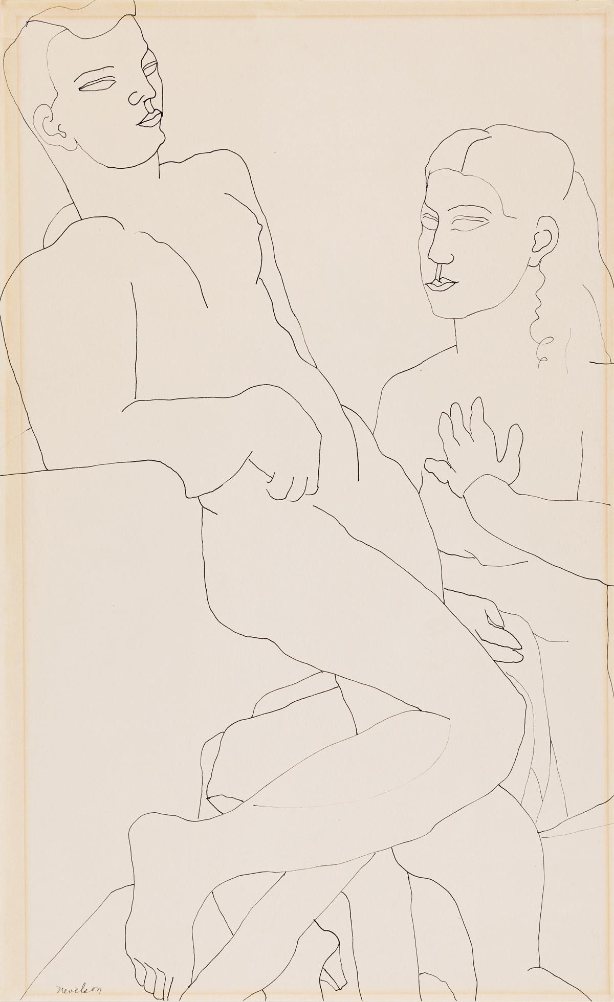LOUISE NEVELSON Couple.
