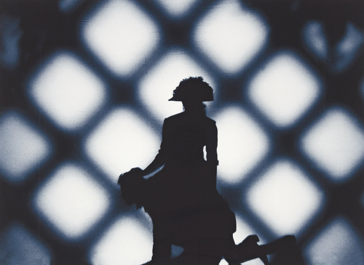 CARRIE MAE WEEMS (1953 - ) Untitled (Woman As Napoleon Riding Atop A Man).