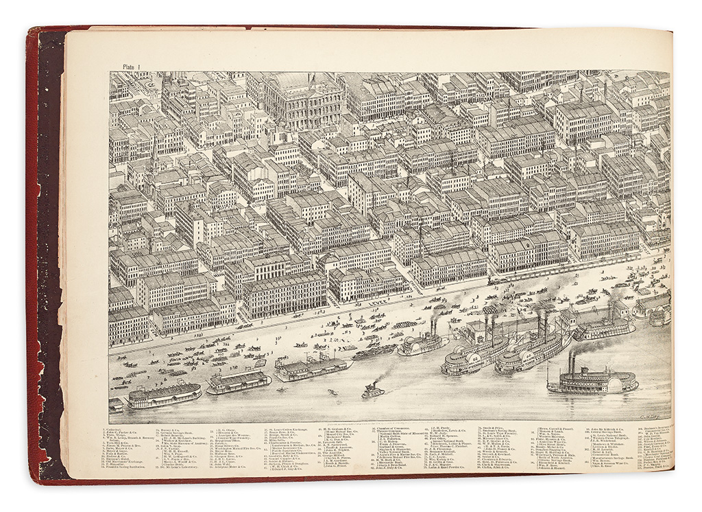 (MISSOURI.) Dry, Camille N.; artist. Pictorial St. Louis: The Great Metropolis of the Mississippi Valley.