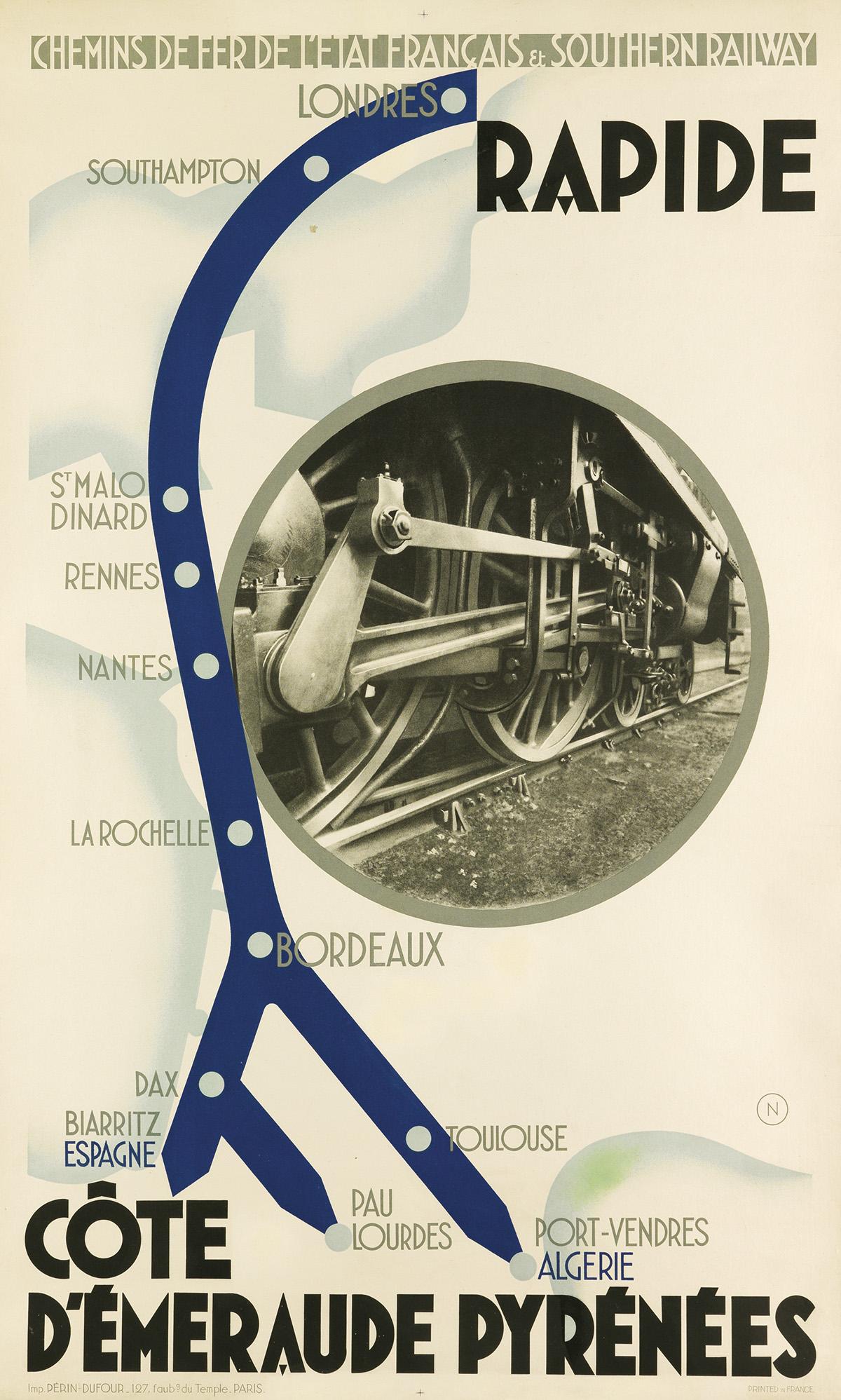 N-(ARTIST-UNKNOWN)-RAPIDE--CÔTE-DÉMERAUDE-PYRÉNÉES-1932-39x2