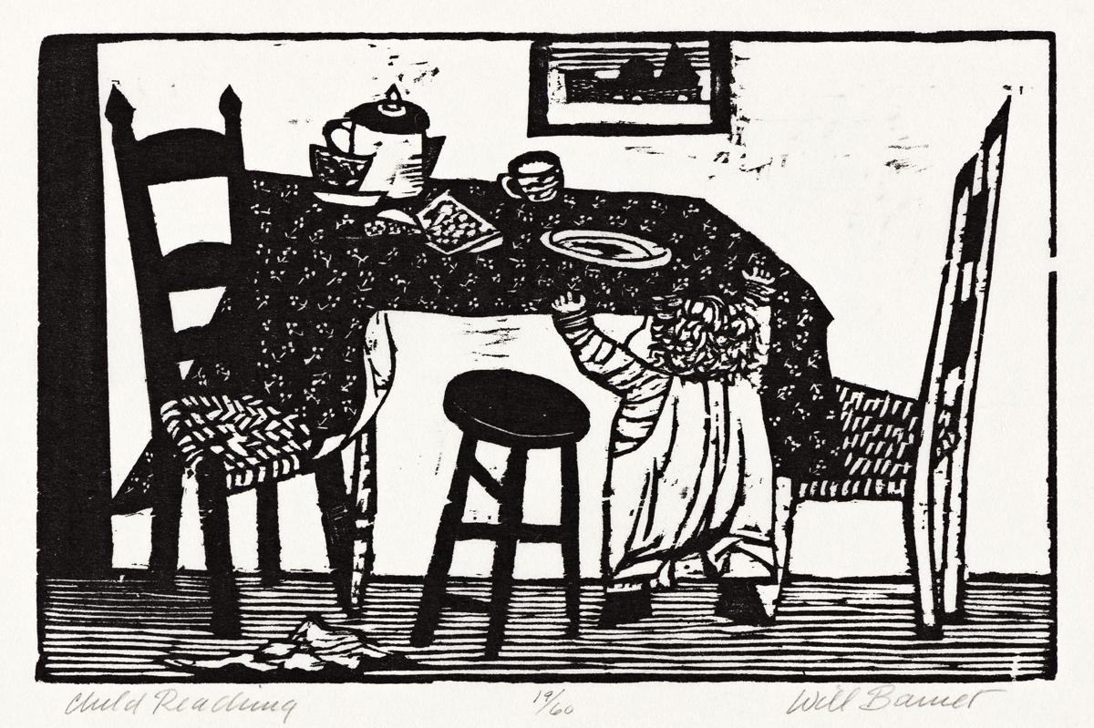 WILL BARNET (1911-2012) Two woodcuts.