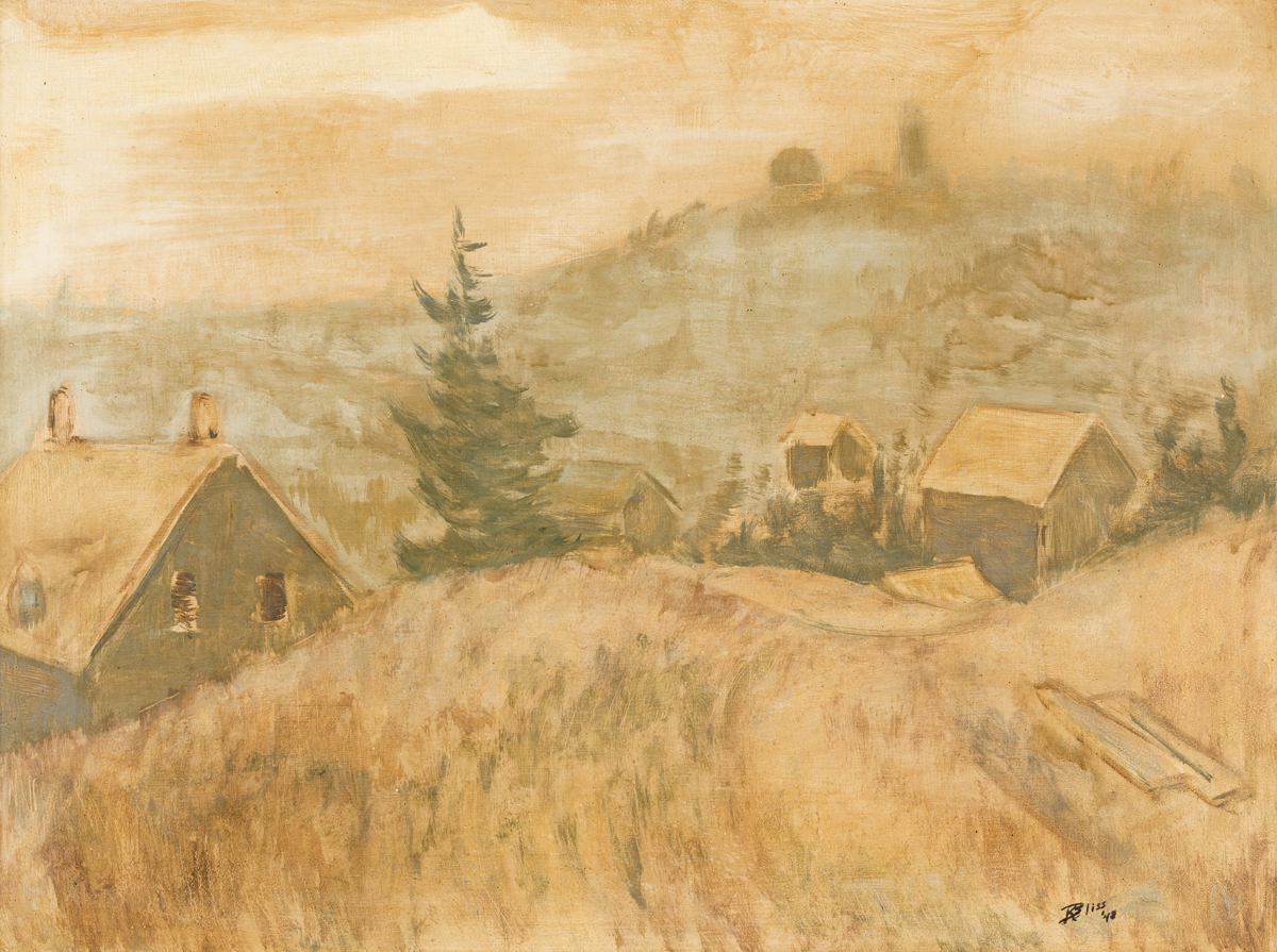 ROBERT BLISS Two oil paintings.