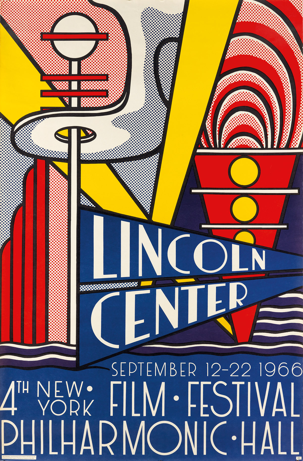 ROY-LICHTENSTEIN-(1923-1997)-LINCOLN-CENTER--4TH-NEW-YORK-FI