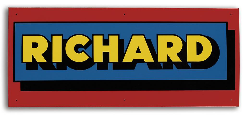 RICHARD HAMILTON Sign.