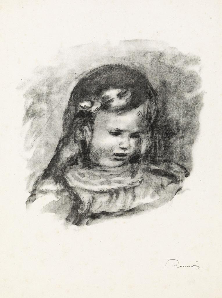 PIERRE-AUGUSTE-RENOIR-Claude-Renoir-la-tête-baisée