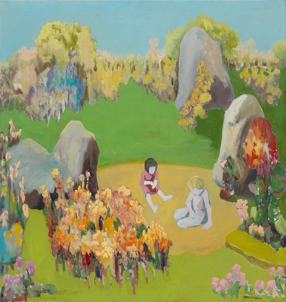 BENNY ANDREWS (1930 - 2006) Circle Landscape.