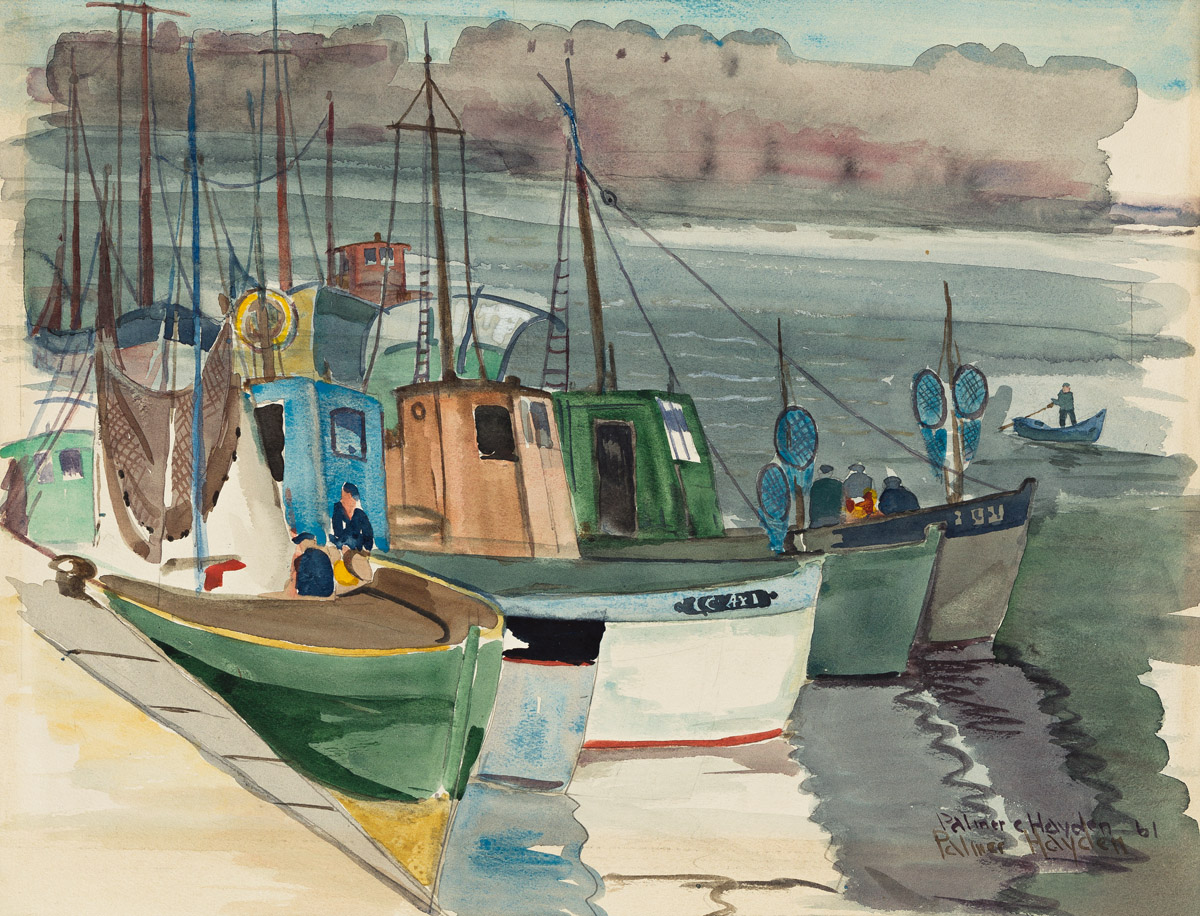 PALMER HAYDEN (1890 - 1973) Sardine Boats (of Concarneau).