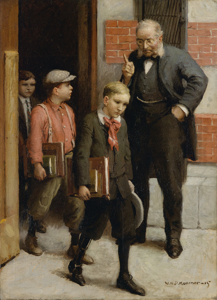 WILLIAM H. D. KOERNER. They silently permitted the still indignant principal to herd them out of the building.