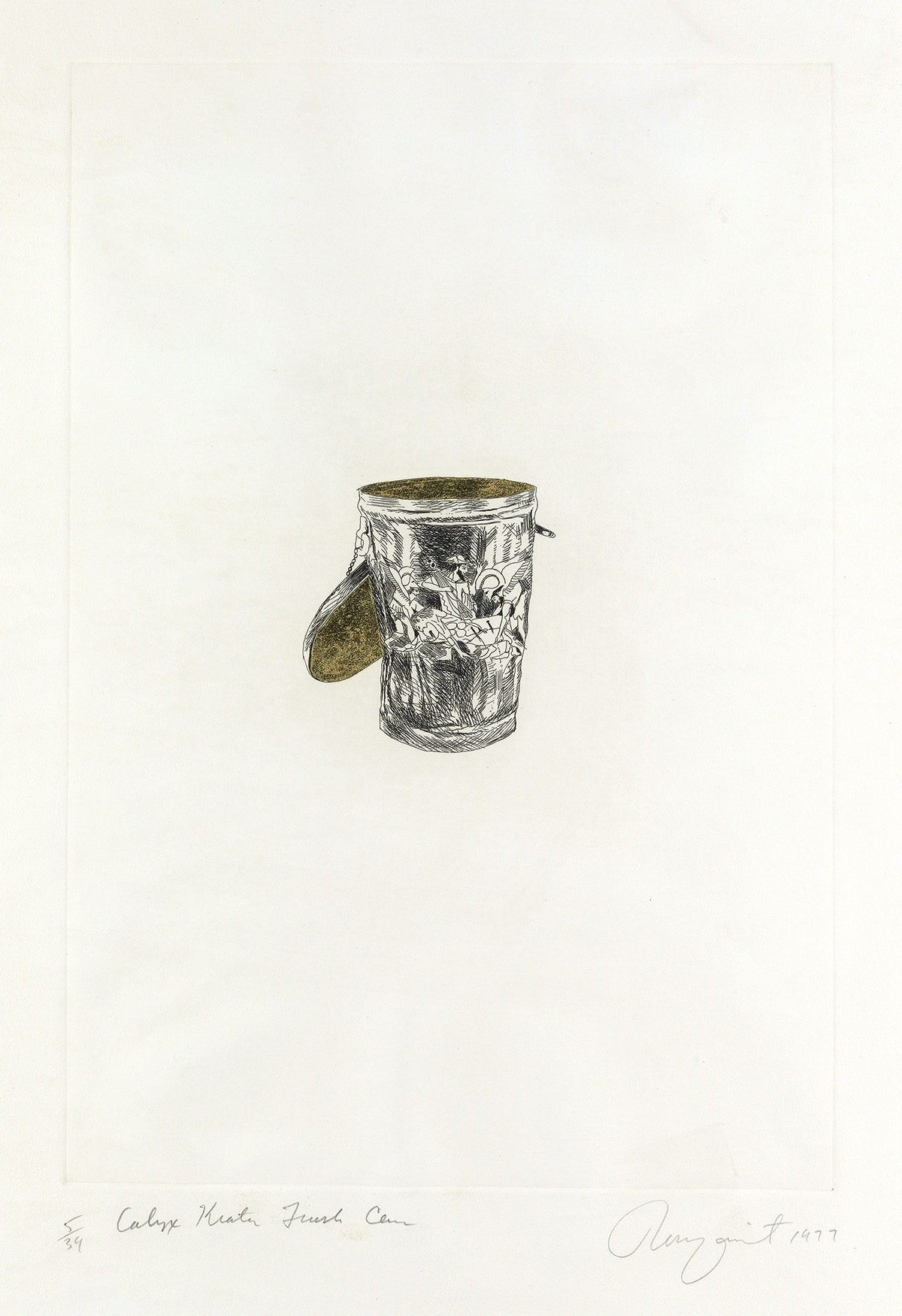 JAMES-ROSENQUIST-Calyx-Krater-Trash-Can