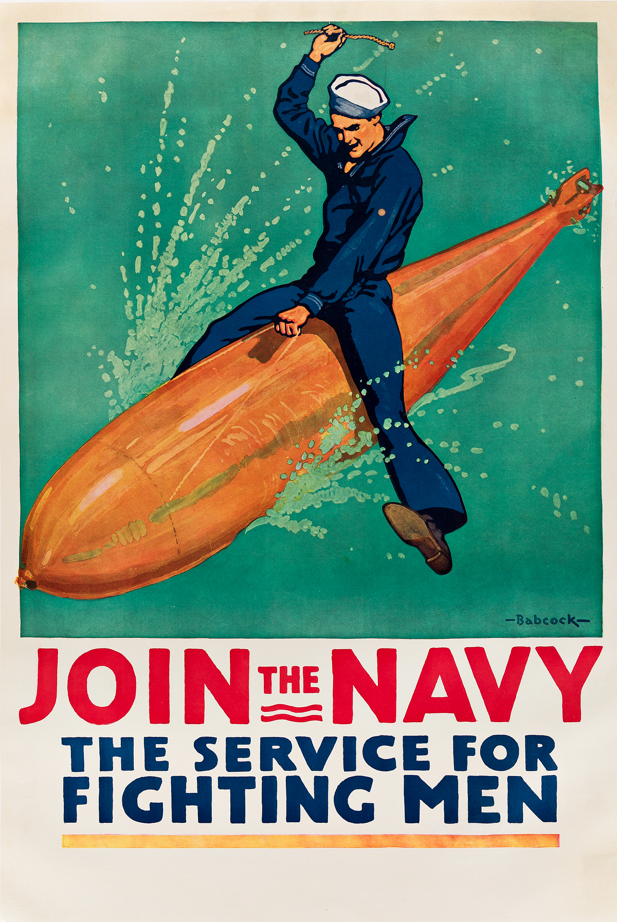 RICHARD-FAYERWEATHER-BABCOCK-(1887-1954)-JOIN-THE-NAVY-1917-41x27-inches-104x69-cm