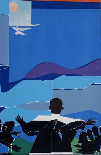 ROMARE BEARDEN Martin Luther King--Mountain Top.