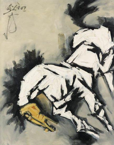MAQBOOL-FIDA-HUSAIN-Untitled-(Horse)