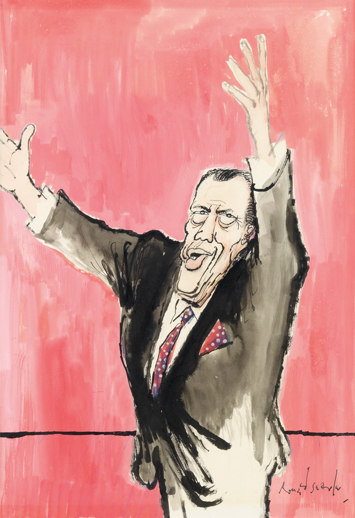 (CARTOON-CARICATURE-TELEVISION)-RONALD-SEARLE-A-really-big-s