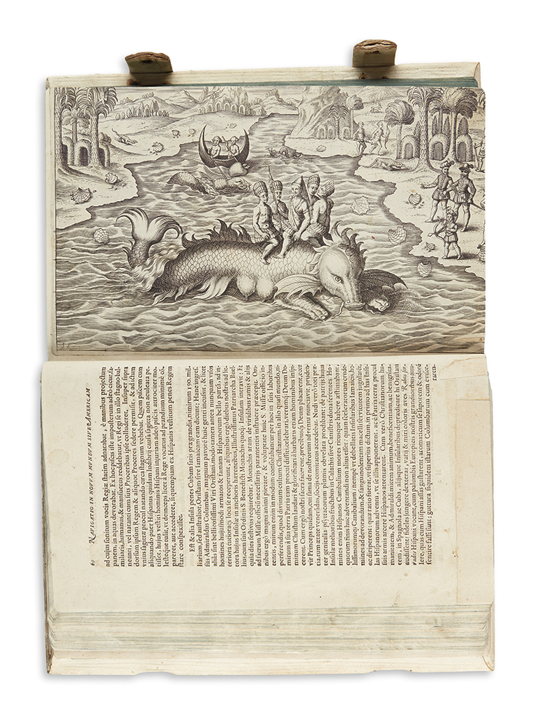 (EARLY EXPLORATION.) Philoponus, Honorius [Caspar Plautius.] Nova Typis Transacta Navigatio, Novi Orbis Indiae Occidentalis.