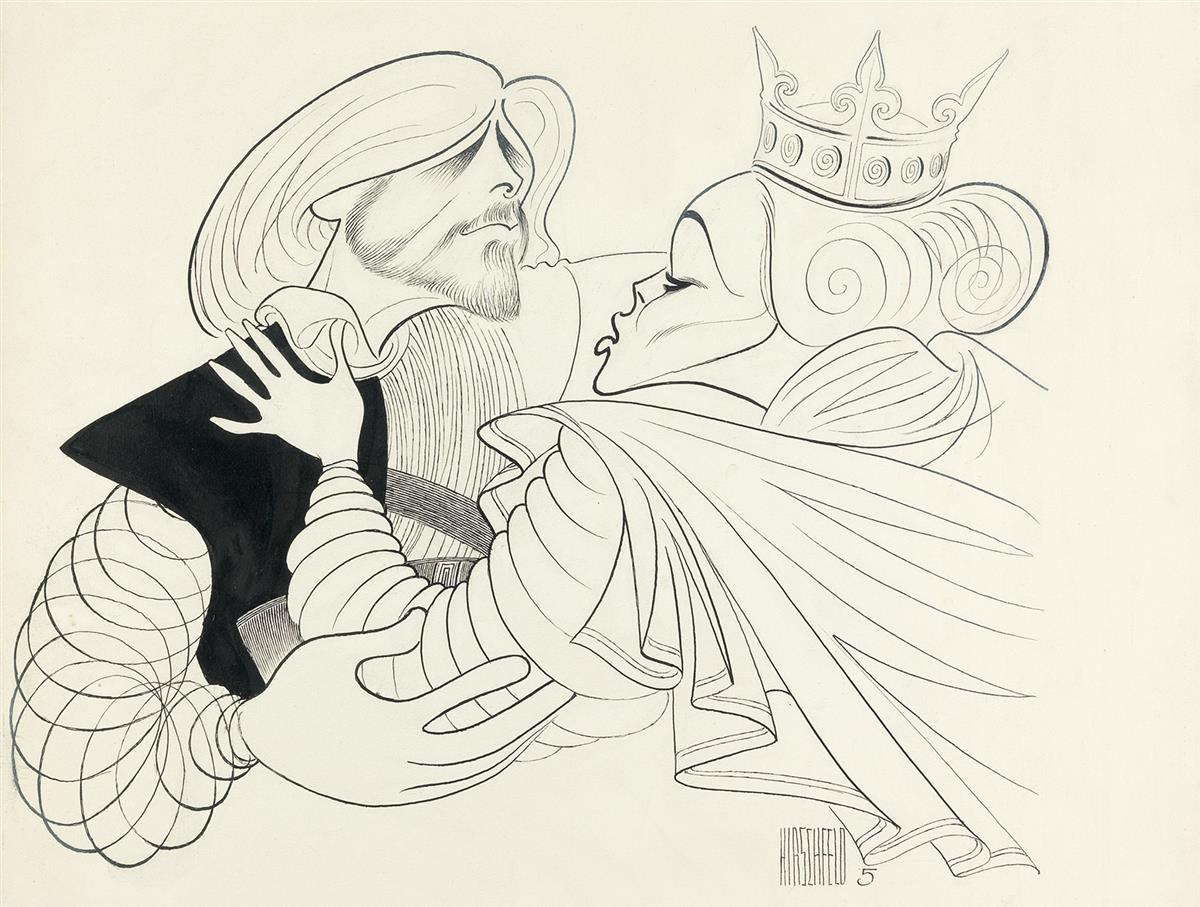 AL HIRSCHFELD. Macbeth.