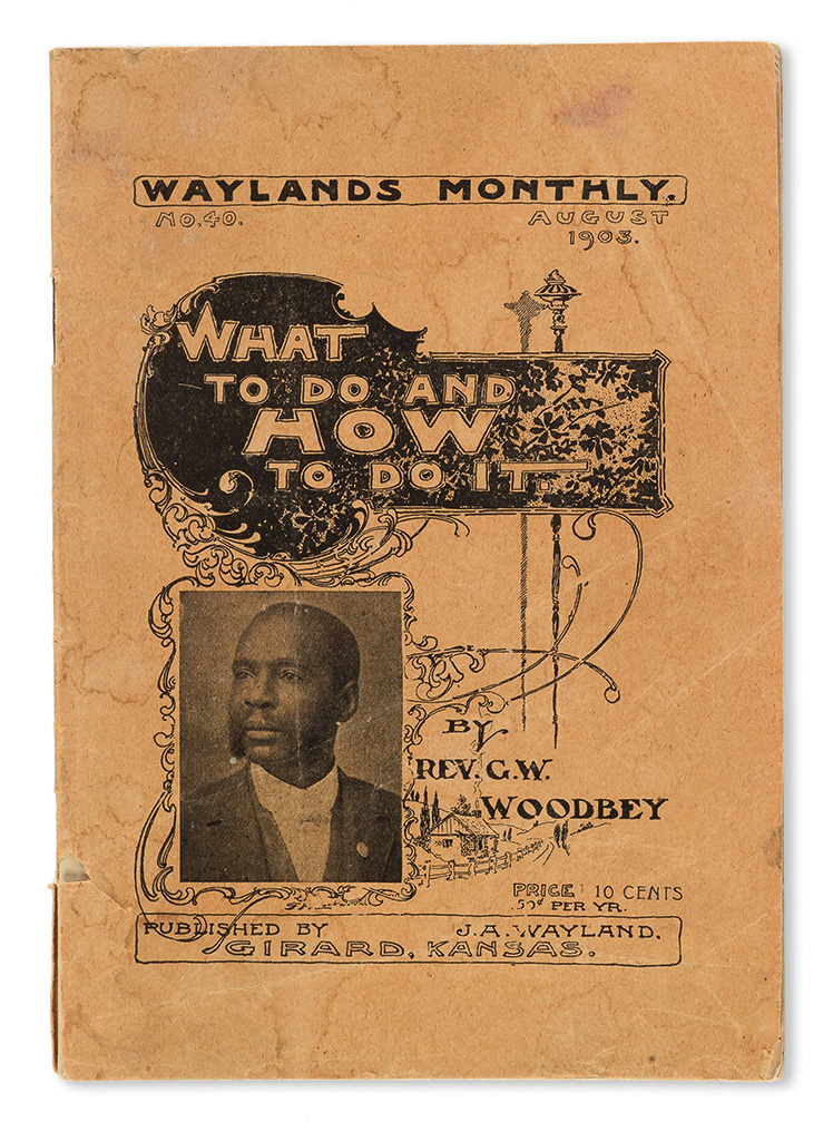 (SOCIALISM.) WOODBEY, REV. GEORGE WASHINGTON. What to Do and How to Do It. Socialism vs Capitalism.