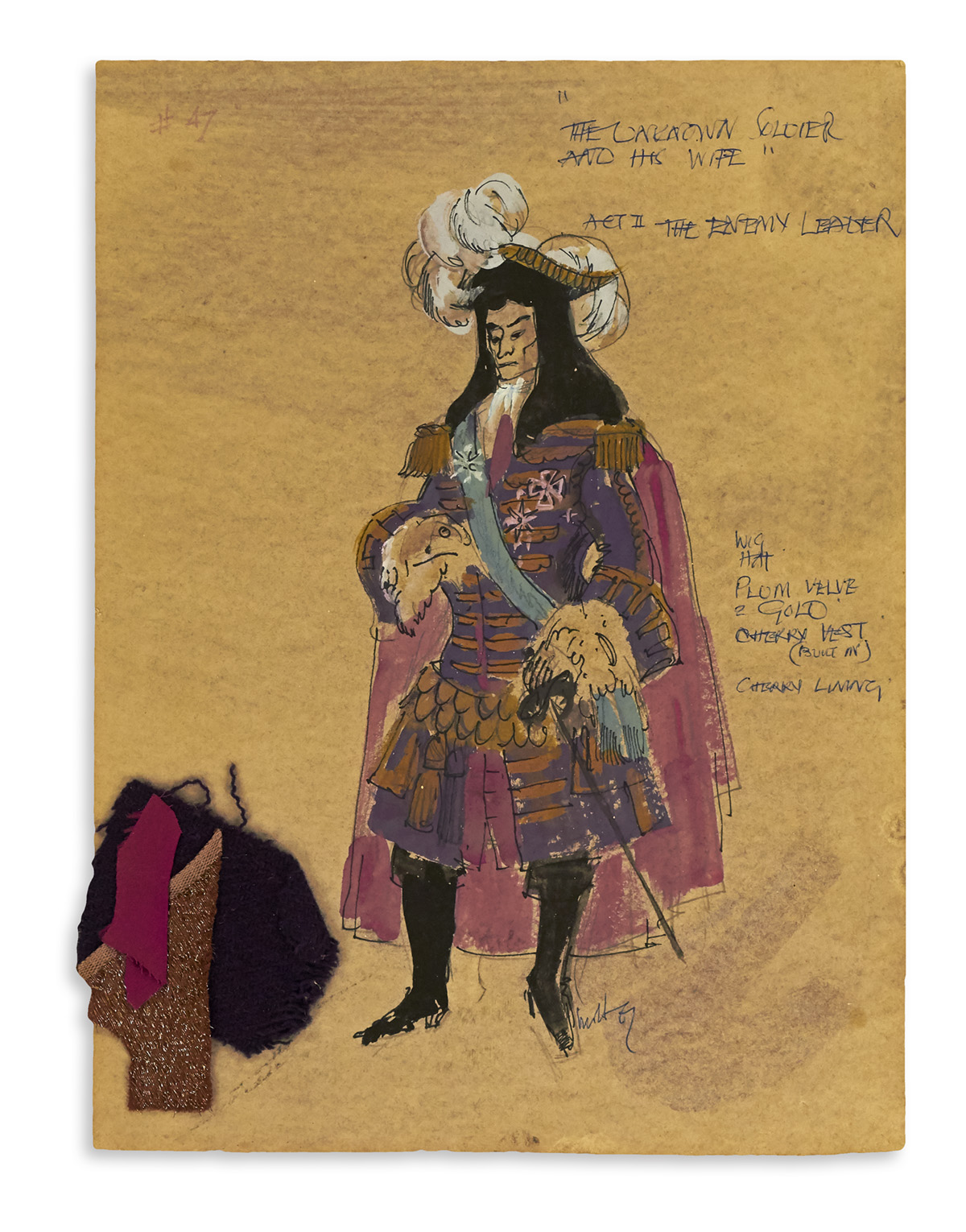MOTLEY. Act II, The Enemy Leader. [COSTUME / THEATER / BROADWAY]