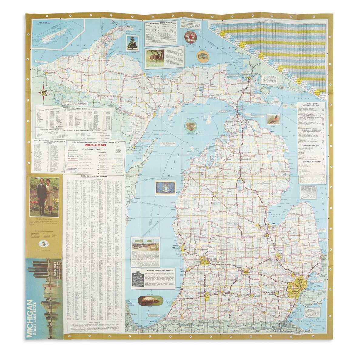 (MICHIGAN-VS-OHIO-STATE)-Michigan-State-Highway-Commission-M