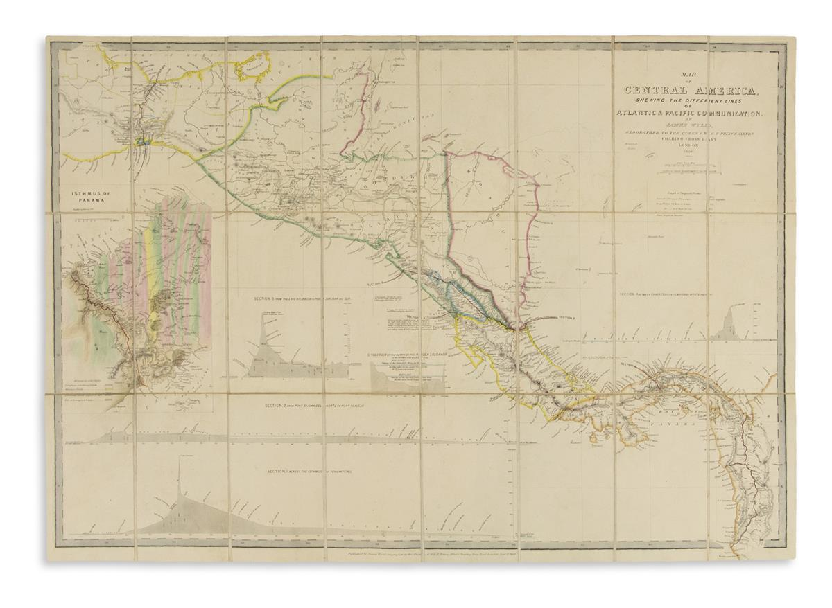 (CENTRAL-AMERICA)-Wyld-James-Map-of-Central-America-Shewing-