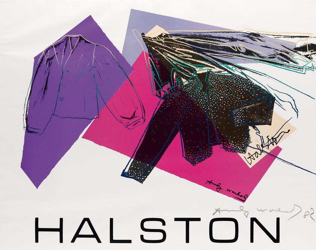 ANDY WARHOL Halston Advertising Campgain.