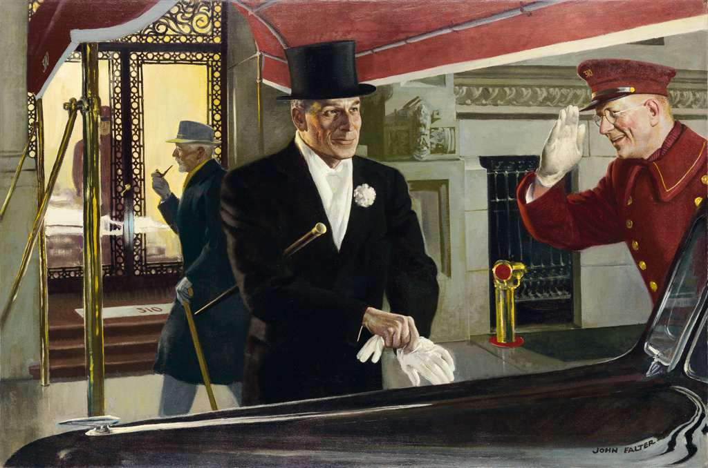 (ADVERTISING / WHISKEY) JOHN PHILIP FALTER. A Brief Conversation with a Man Going Places.