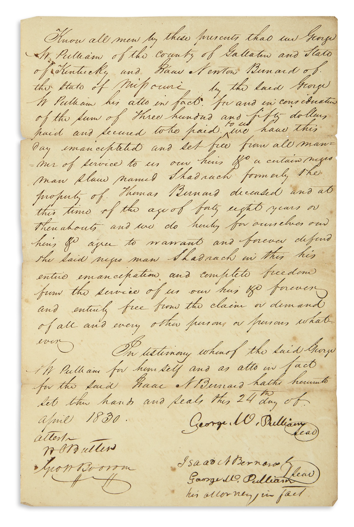 (SLAVERY-AND-ABOLITION)-Manumission-issued-to-a-Kentucky-man
